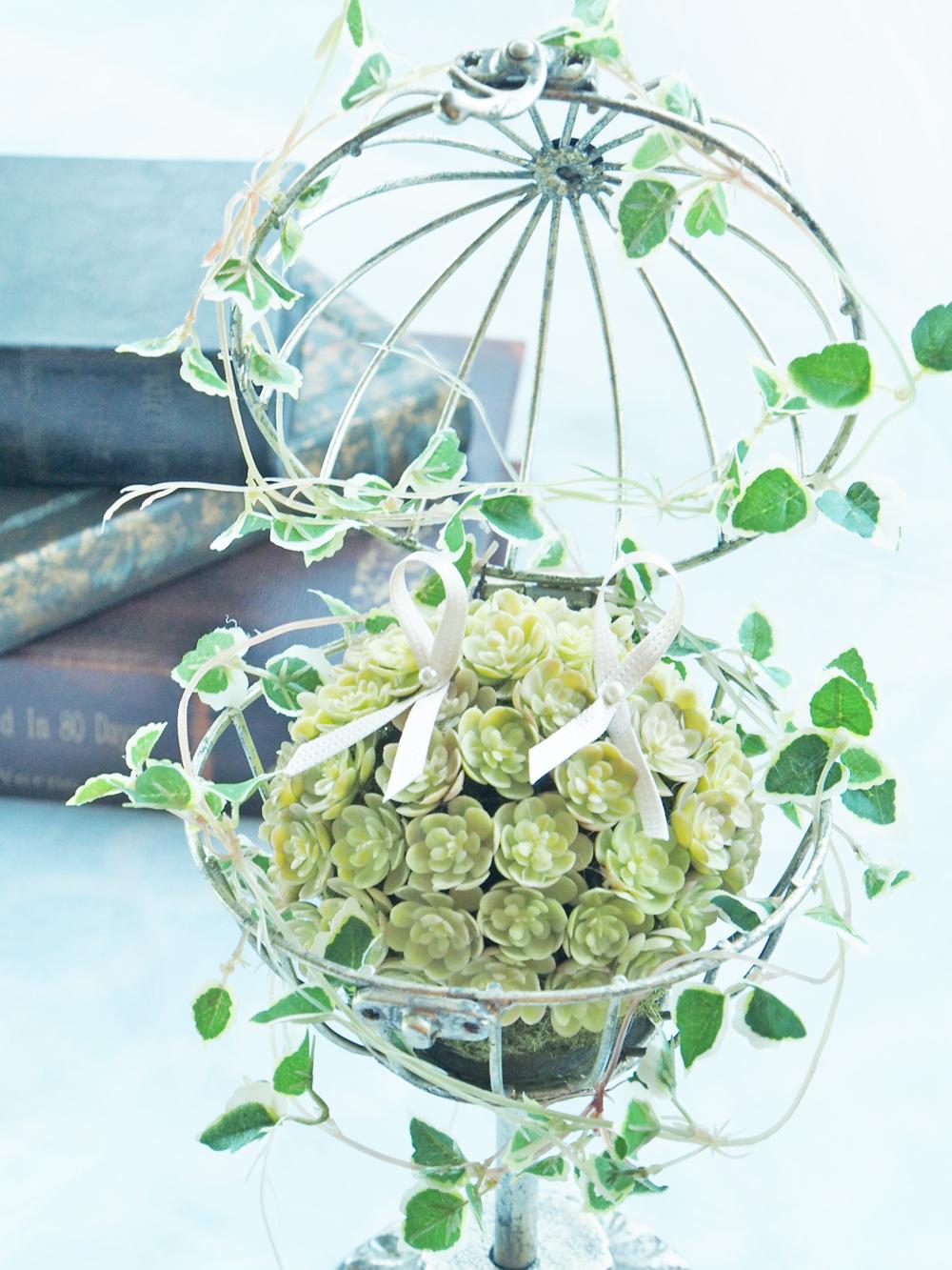 花のリングピロー多肉植物のリングピロー