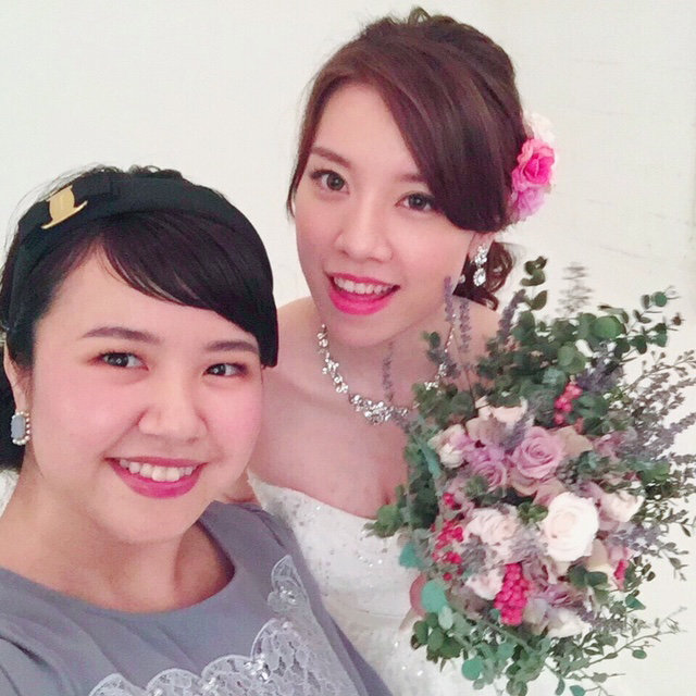 東京ブーケレッスン結婚式当日写真