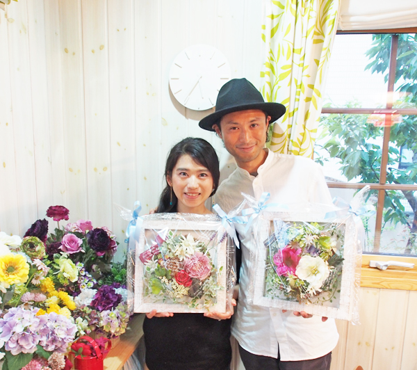 両親贈呈ギフト花レッスン東京