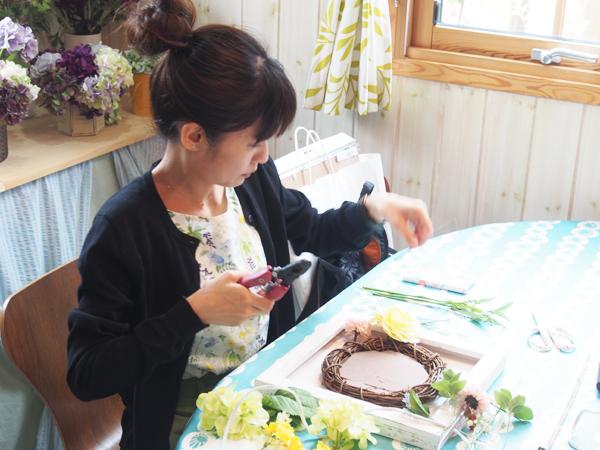 手作り両親贈呈花ギフトレッスン東京